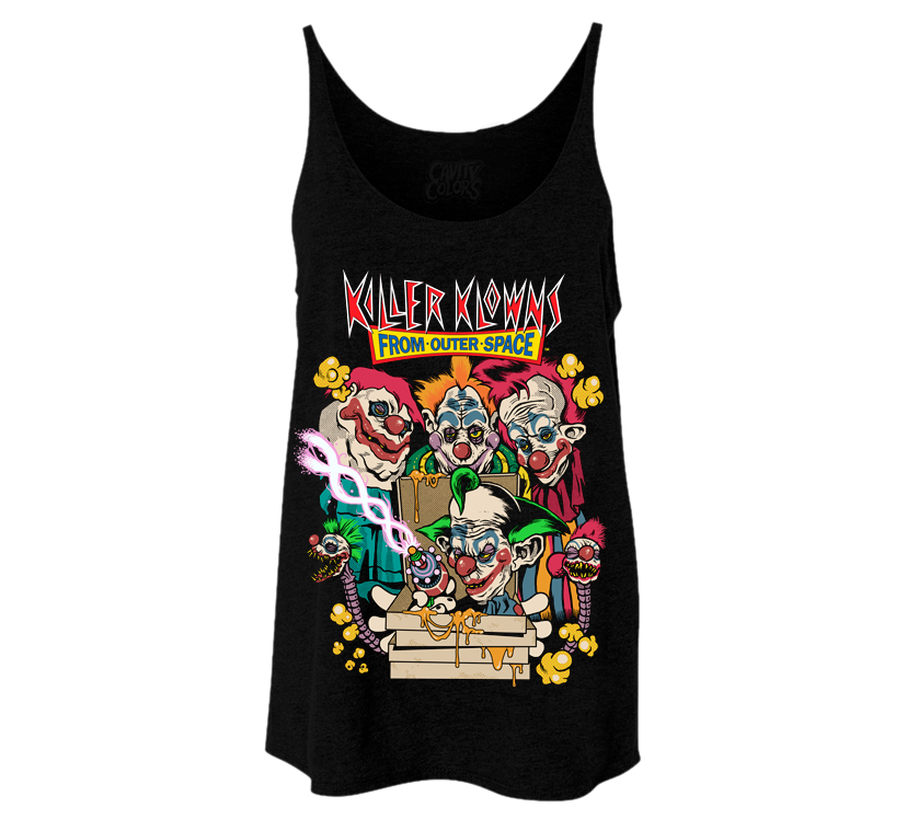 KILLER KLOWNS FROM OUTER SPACE: PIZZA - LADIES SLOUCHY TANKTOP