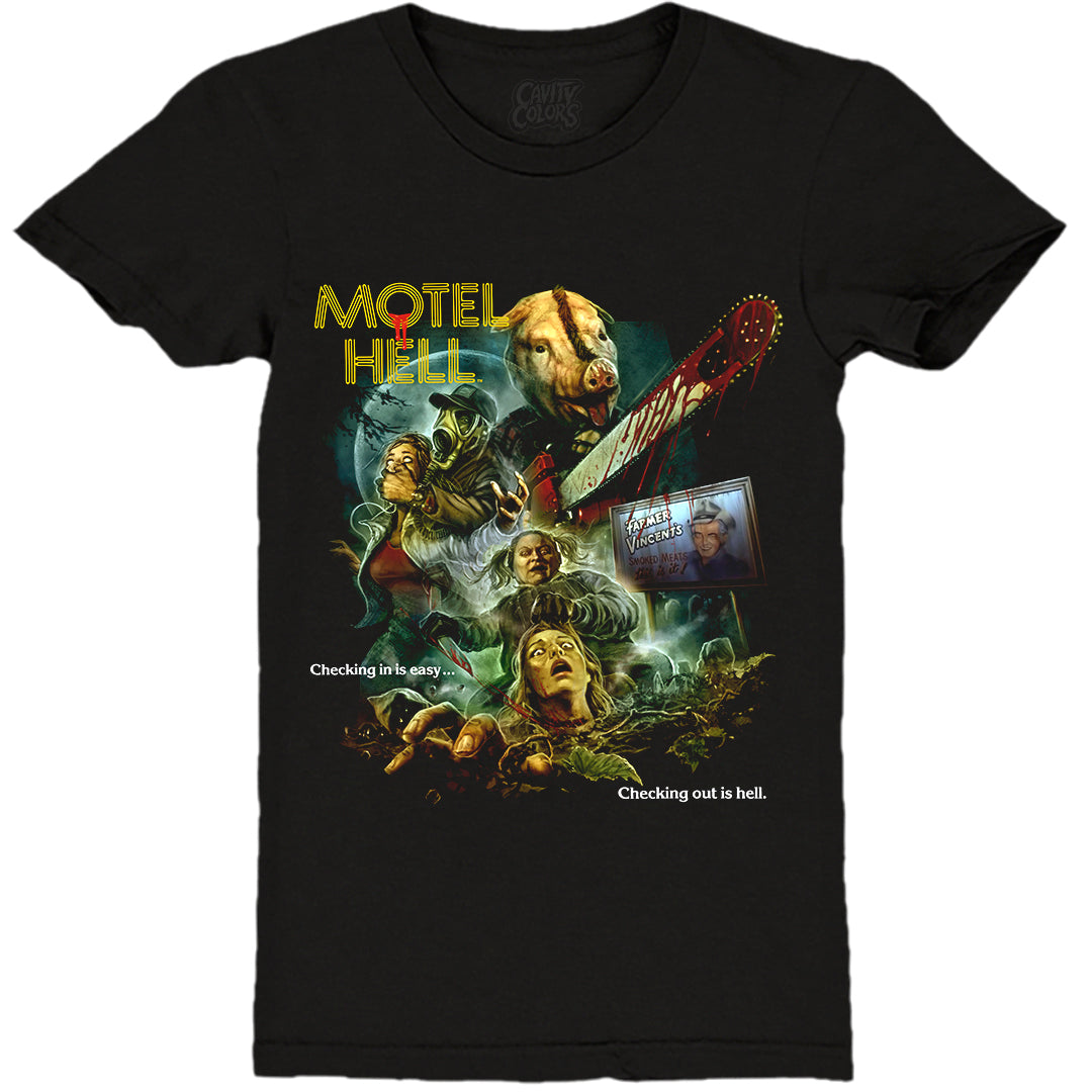 MOTEL HELL: 40TH ANNIVERSARY - LADIES T-SHIRT