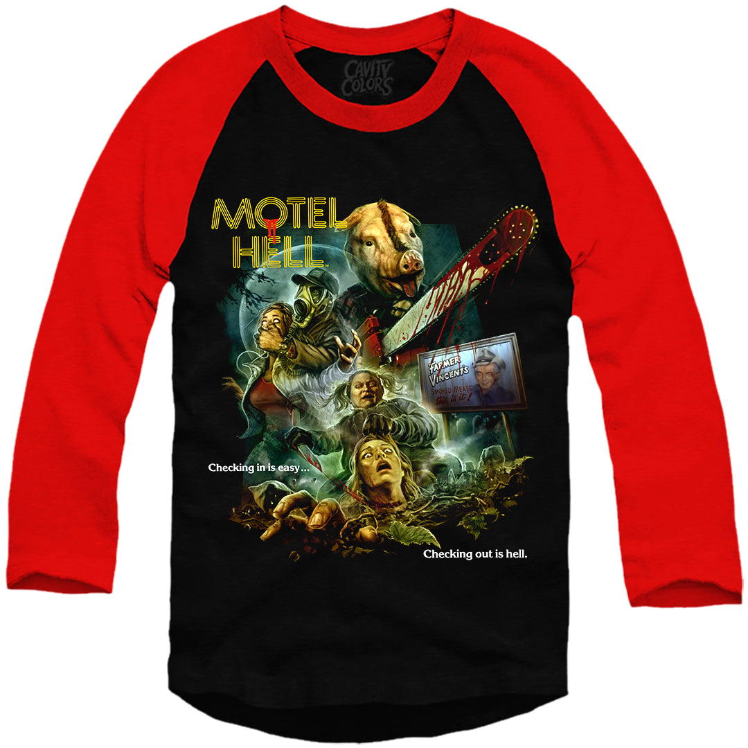 MOTEL HELL: 40TH ANNIVERSARY - BASEBALL SHIRT