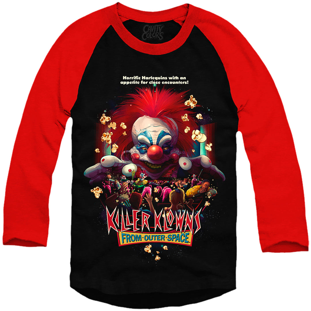 KILLER KLOWNS: POPCORN AND A MOVIE - BASEBALL SHIRT