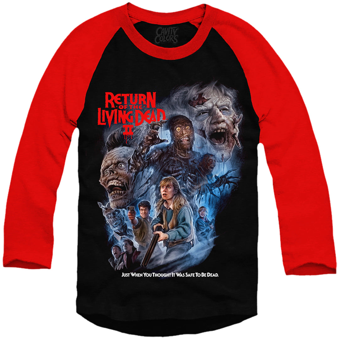 RETURN OF THE LIVING DEAD PART II - BASEBALL SHIRT