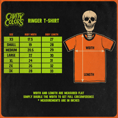 THE CURSE - RINGER T-SHIRT