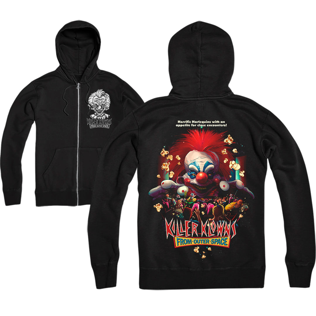 KILLER KLOWNS: POPCORN AND A MOVIE - ZIP UP HOODIE