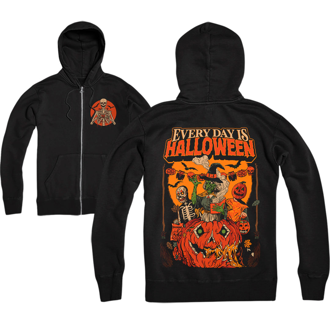 EVERY DAY IS HALLOWEEN - ZIP-UP HOODIE