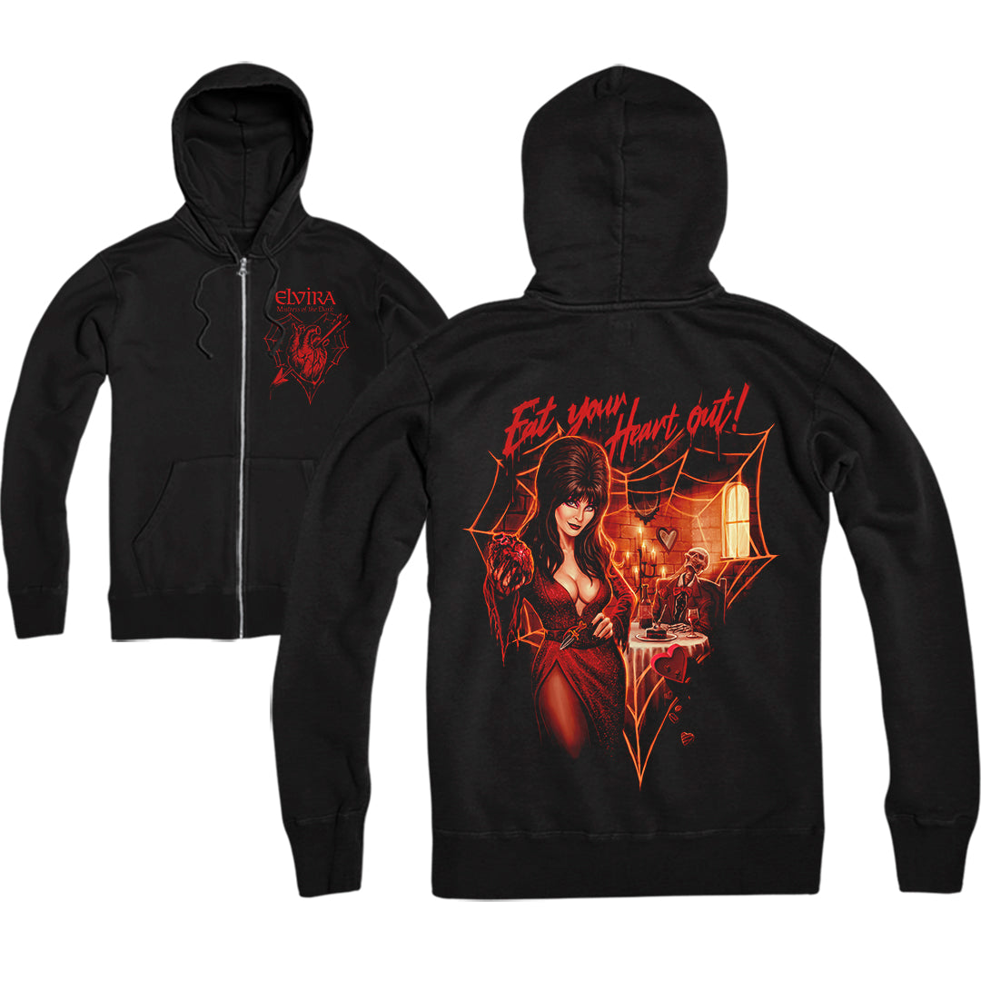 ELVIRA: EAT YOUR HEART OUT - ZIP-UP HOODIE