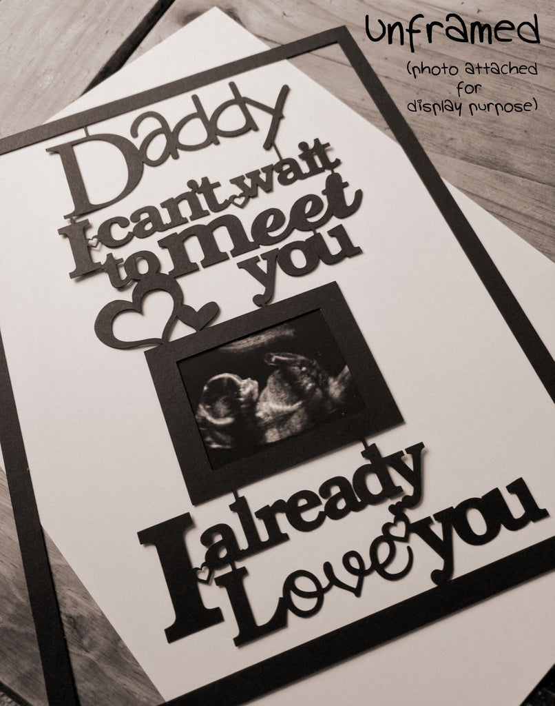 i cant wait to meet you daddy