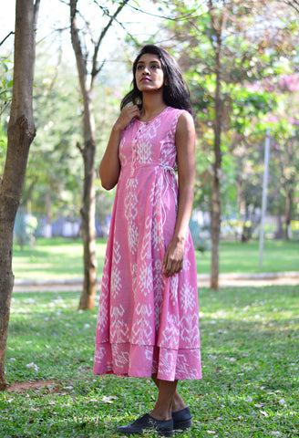 SIDE TIE-UP DRESS IN PINK