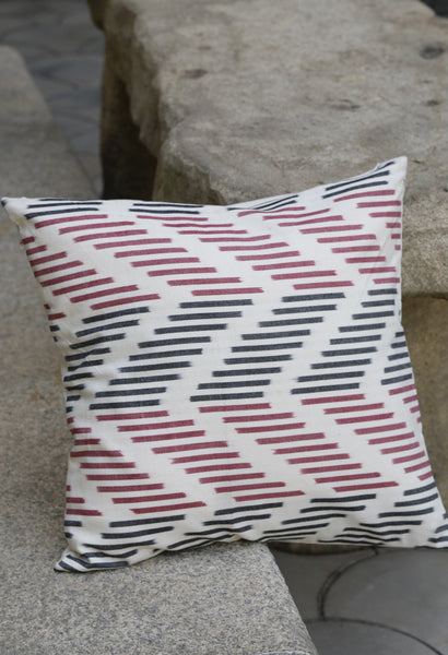 BLACK RED CHEVRONS CUSHION COVERS