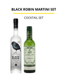 Black Robin Martini Set