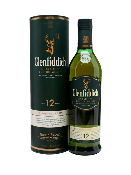 Glenfiddich 12YO Single Malt Scotch Whisky
