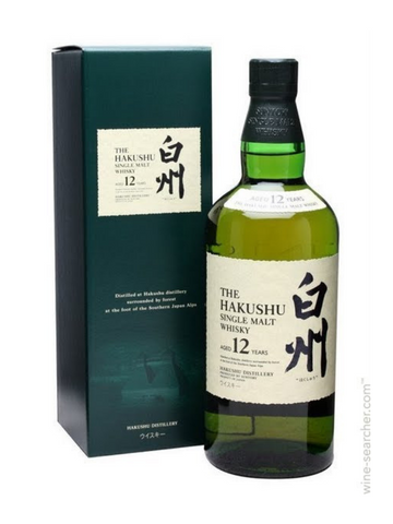 Hakushu 12 year old Japanese Whiskey