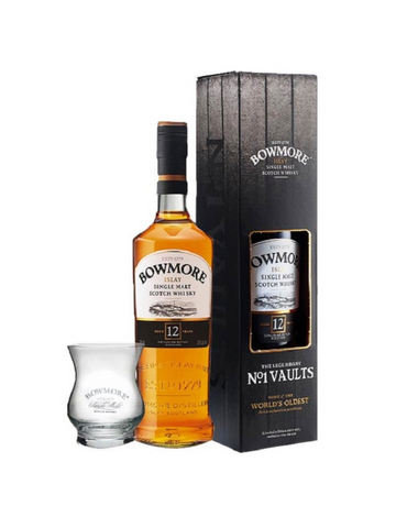 Bowmore 12 Year Old Gift Box with Glass