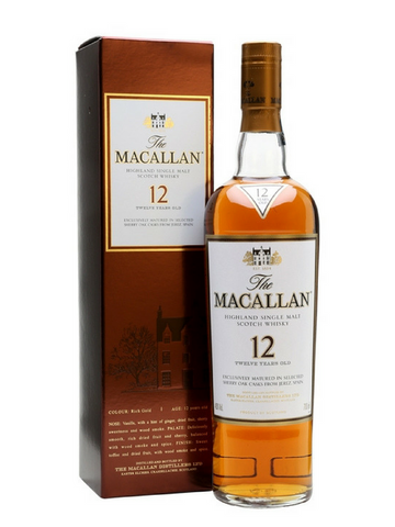 The Macallan 12 Year Old Sherry Oak Single Malt Whisky | NZ