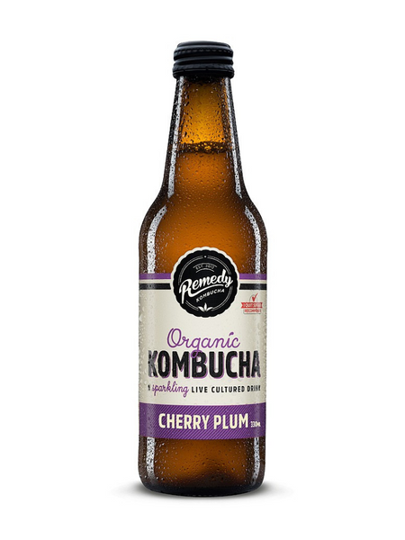 Remedy Kombucha - Cherry Plum 330ml x 12 pack