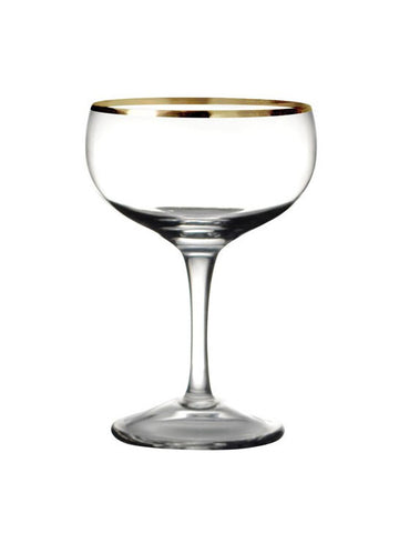 Leopold Gold Rim Coupe 7.5oz