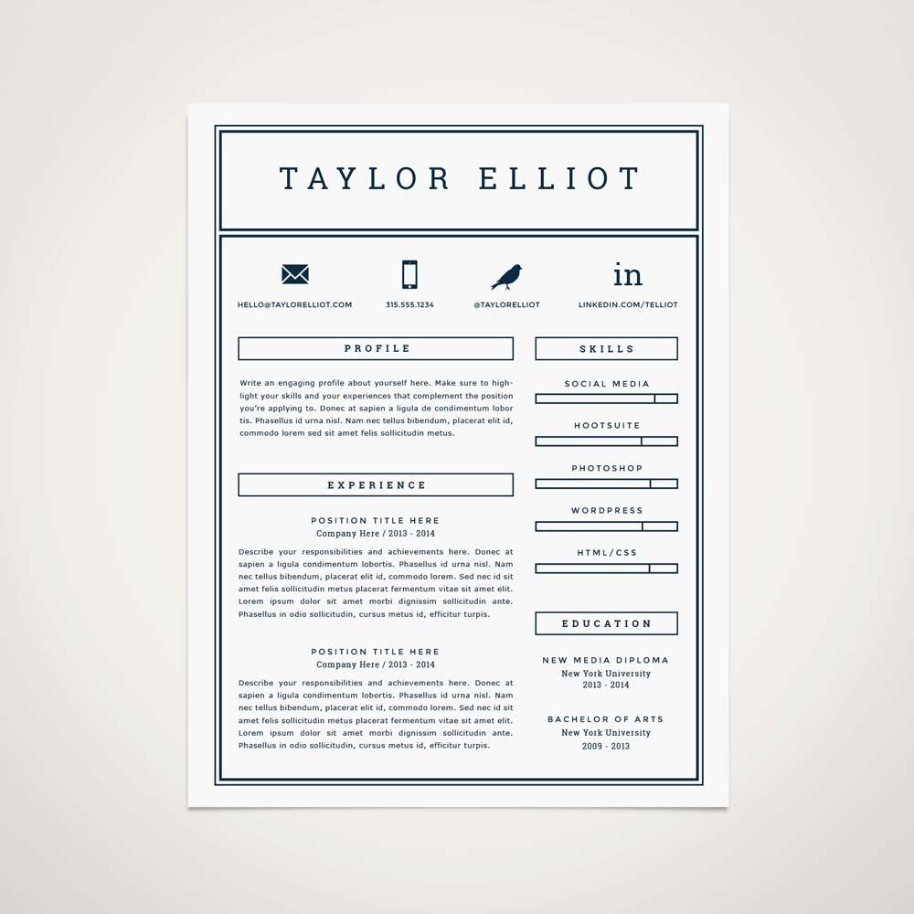 Professional Resume Template Refinery Co