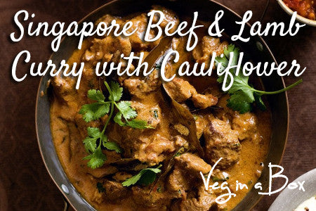 Singapore Beef & Lamb Curry with Cauliflower Rice
