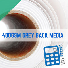 PVC Grey Back Media Scrimless Banner Trade Printing - 400gsm Max Flat Non Curl High Quality