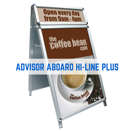 ADVISOR ABOARD STREET SIGN PAVEMENT SIGN A-BOARD