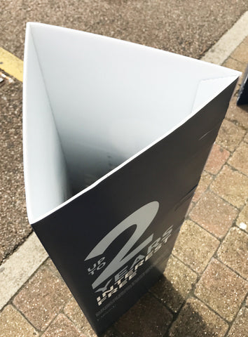 Bollard Advertising Covers Triangle & Square Sleeves