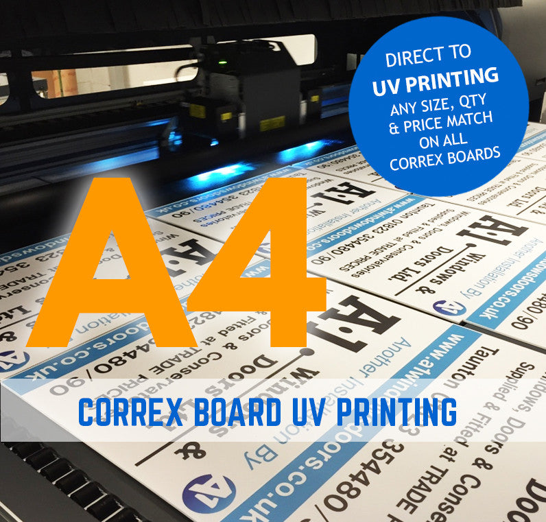 A4 correx boards signs printing