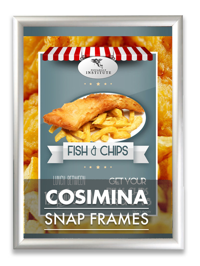 COSIMINA WATERPROOF POSTER ADVERTISING SNAP FRAMES AVAILABLE IN 25MM & 32MM
