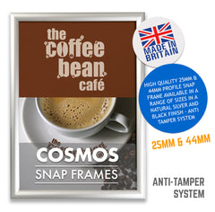 COSMOS SECURITY TAMPER PROOF SNAP FRAME POSTER FRAMES IN 25MM PROFILE