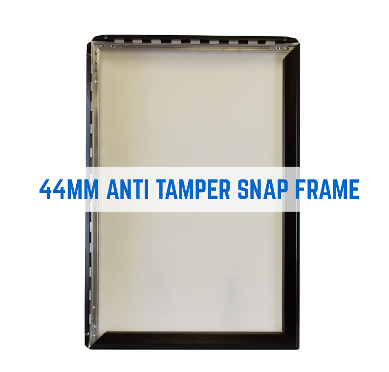 COSMOS SECURITY TAMPER PROOF SNAP FRAME POSTER FRAMES IN 44MM PROFILE