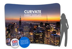 TEXSTYLE FABRINK CURVATE CURVED FABRIC DISPLAY POP UP STAND