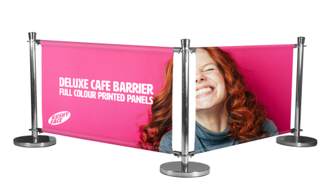 Café Barriers Custom Printed