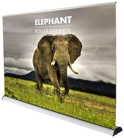 ELEPHANT ROLLER BANNER 3M WIDE LARGEST ON THE MARKET TO DATE