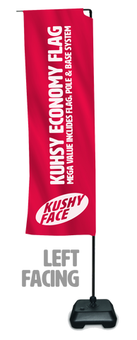 Kushy Economy Entry Level Flag, Base & Pole System