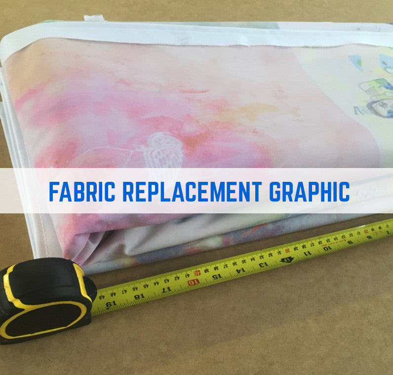 FABRIC GRAPHIC REPLACEMENT TEXSTYLE RECTANGLE ELONGATE FABRIC COUNTER STAND