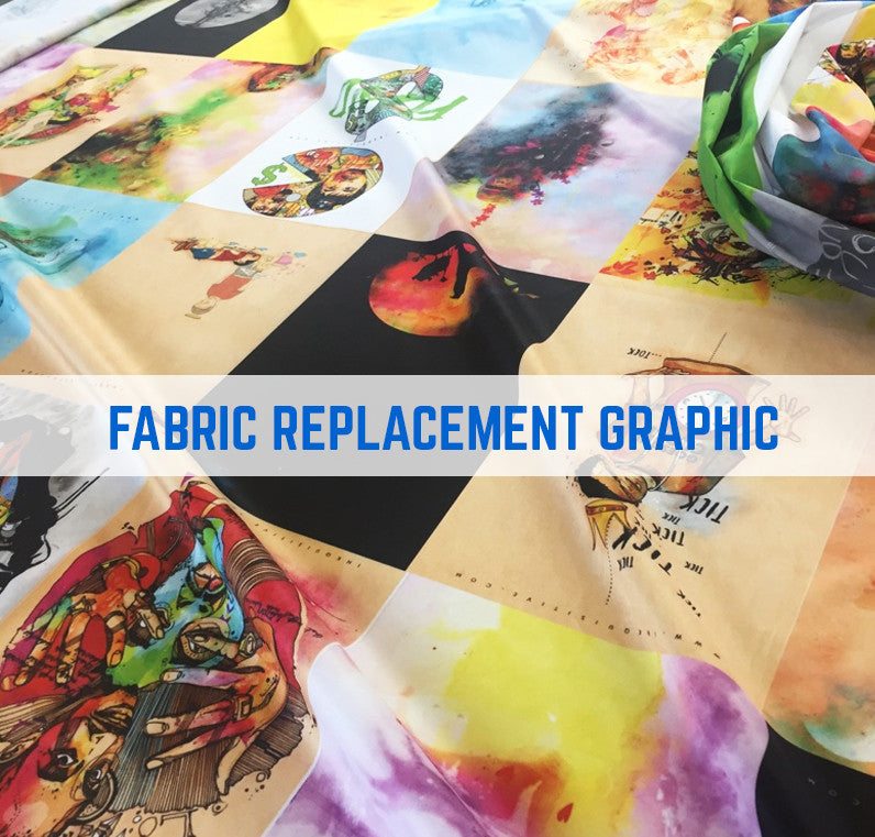 FABRIC GRAPHIC REPLACEMENT INCURVATE CONCAVE MONUMENT FABRIC STAND