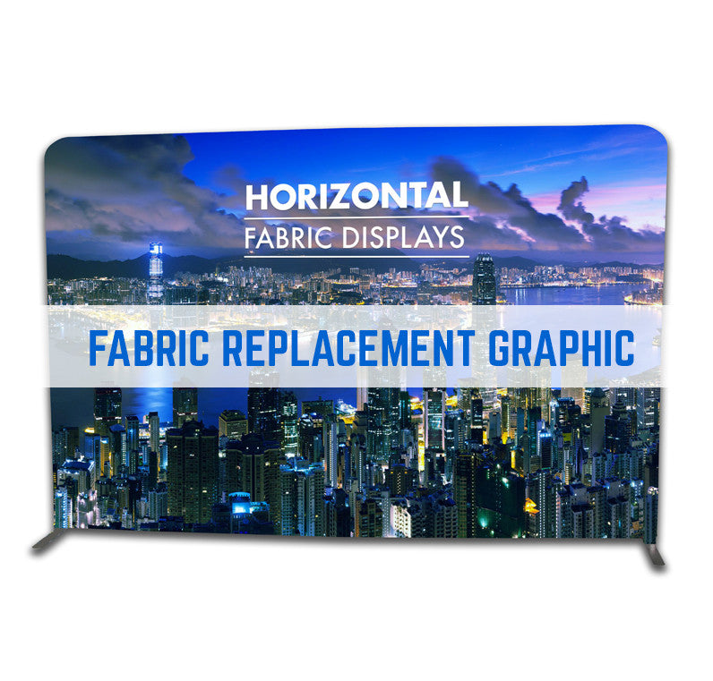FABRIC GRAPHIC REPLACEMENT TEXSTYLE STRAIGHT HORIZONTAL MONUMENT FABRIC STAND