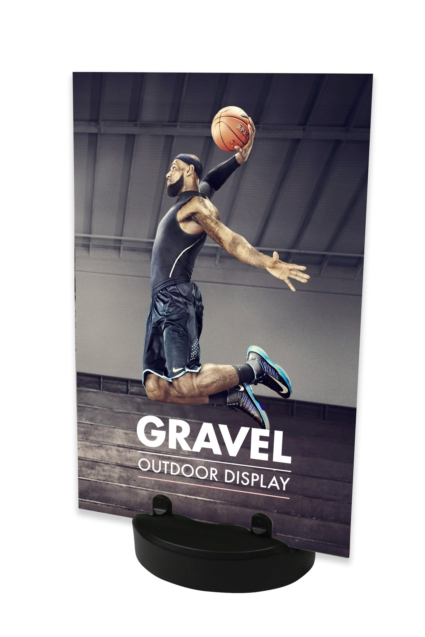 GRAVEL RIGID GRAPHIC PANEL STAND FOR OUTDOOR & INDOOR DISPLAY SIGNAGE