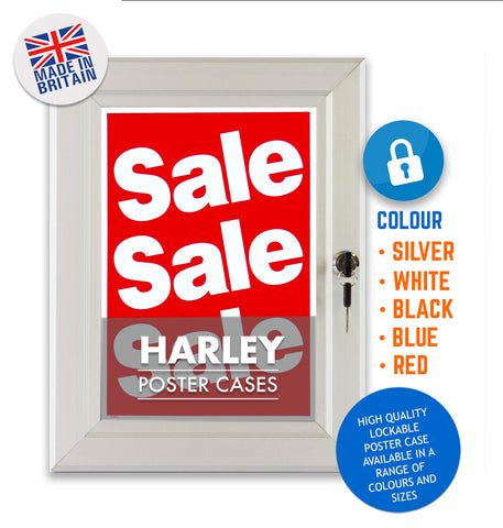 HARLEY STANDARD KEY LOCKING POSTER FRAMES - RED COLOUR FINISH