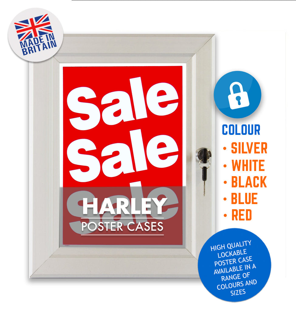 HARLEY STANDARD KEY LOCKING POSTER BLACK FRAME
