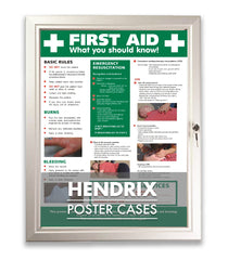 HENDRIX MAGNETIC KEY LOCK POSTER NOTICE BOARD FRAME - SILVER FINISH