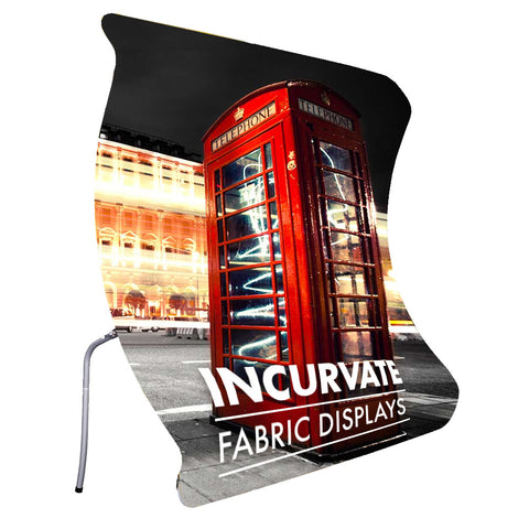 FABRINK TEXSTYLE CONCAVE INCURVATE FABRIC DISPLAY STAND