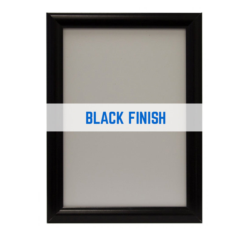 JUPITER BLACK 25MM SNAP FRAMES POSTER FRAMES ADVERTISING FRAMES