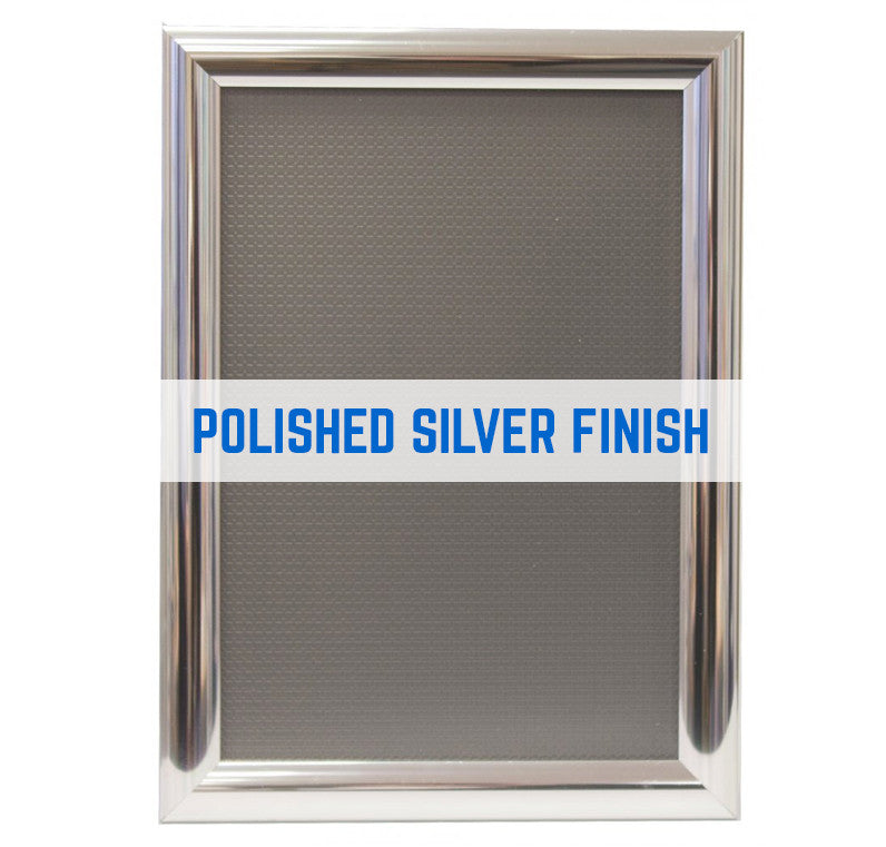 JUPITER POLISHED SILVER 25MM SNAP FRAMES POSTER FRAMES ADVERTISING FRAMES