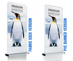 BANNER FRAME AVAILABLE WITH A TEXTILE PRINTED COVER OR A PVC BANNER INSERT
