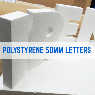 POLYSTYRENE LETTERS, CNC POLYSTYRENE LETTERS