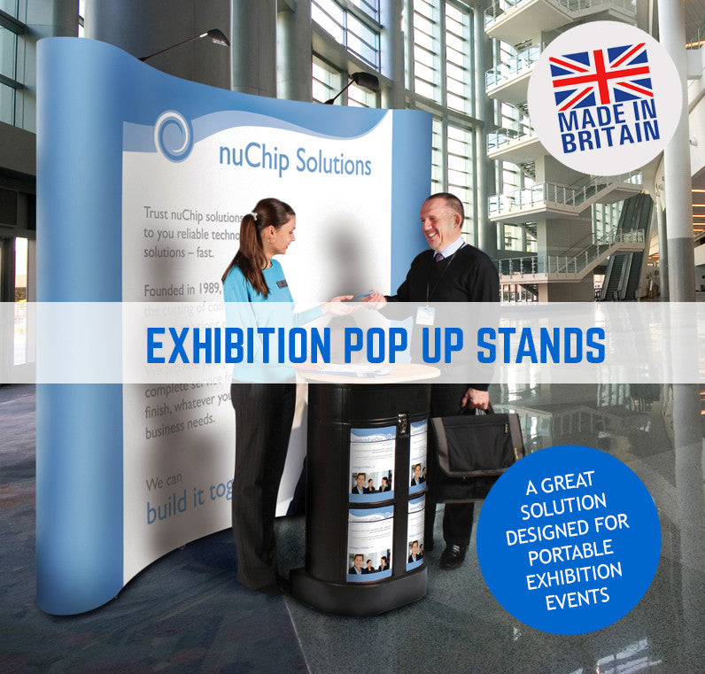 CURVED POP UP EXHIBITION DISPLAY UNIT