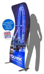 Fabrink Quirk TEXstyle Surge Curl Fabric Exhibition Promotional Banner Stand