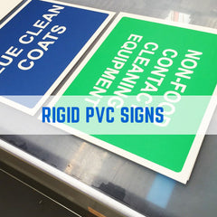 RIGID PVC HEALTH AND SAFETY SIGNS, RIGID PVC PRINTING
