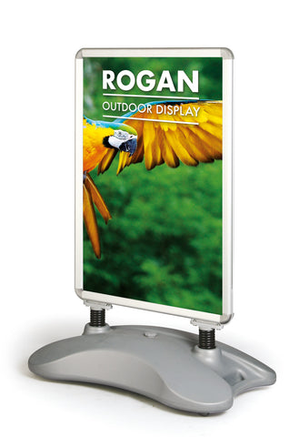 ROGAN FORECOURT STREET PAVEMENT PORTABLE SIGN WATER WEIGHTED BASE