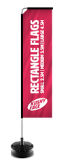 Rectangle Flags Aluminium Pole Style | Kushy Face