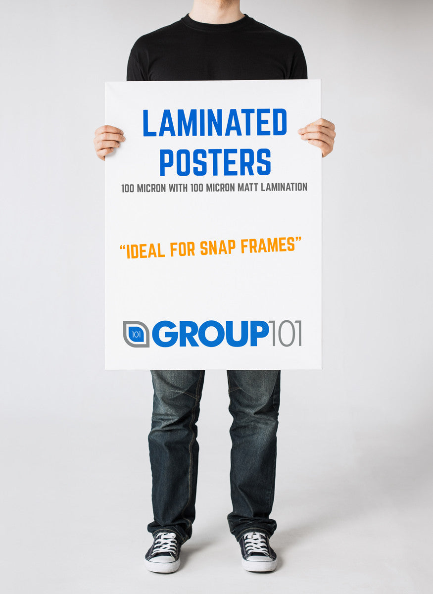 LAMINATED POSTER PRINTING FOR SNAP FRAMES